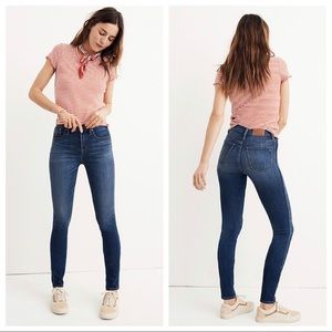 """Madewell 10"""" High Rise Skinny Jeans Size 29 Tall"""